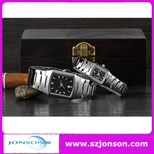 Hotselling stainless steel couple watches gift set with your logo