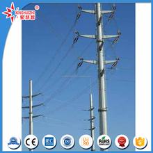 Manufacturer electric pole with galvanized steel