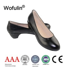Delicacy lady shoes with high heel/ fashion lady shoes made in genuine leather