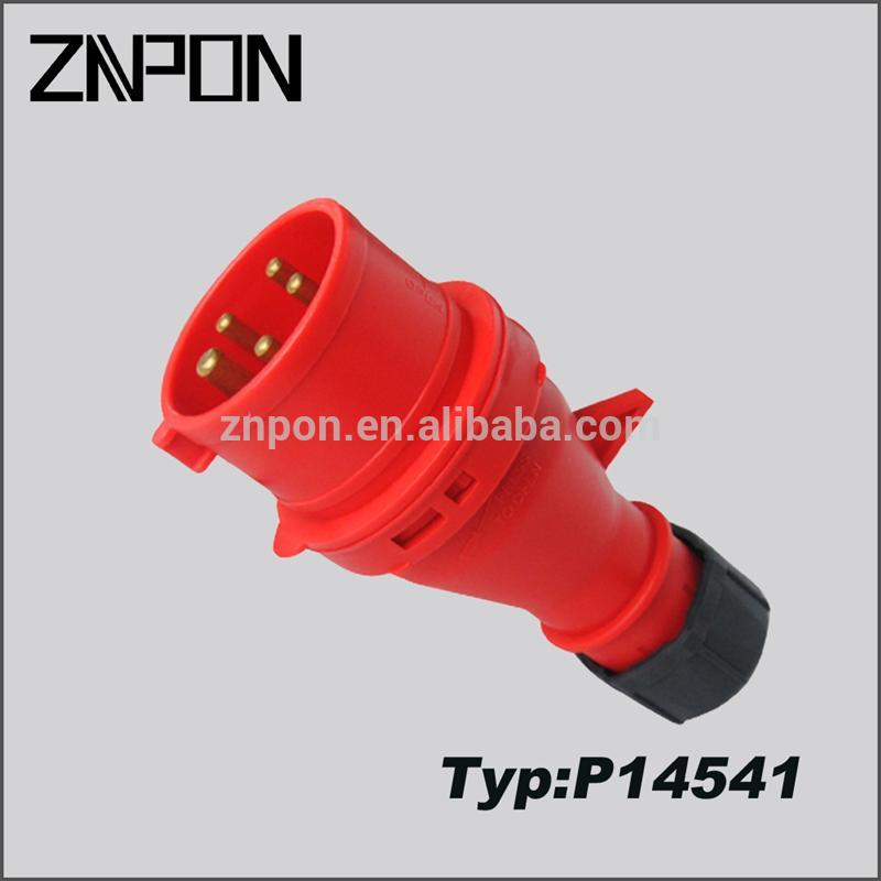 3P+N+E industrial socket and plug ip44 ip67 made in China P14541