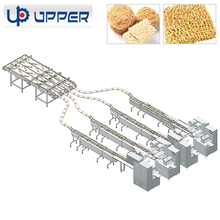 Automatic variable high speed rounded square instant noodles food packaging and feeding assembly line machine