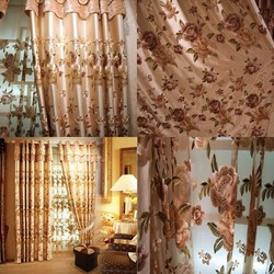 Made In China Window Curtain Embroidery Indian Window Curtains