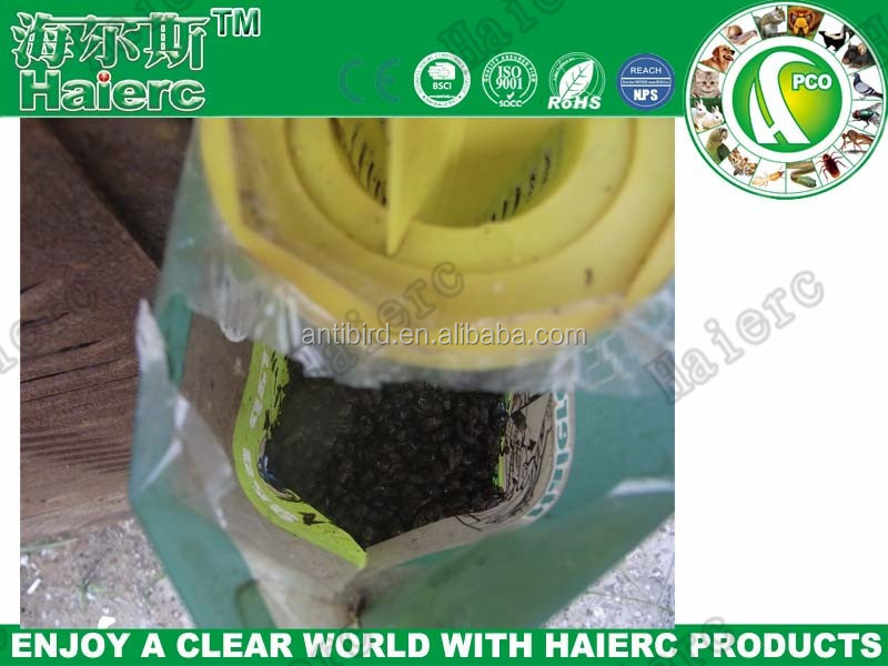 Haierc factory wholesale non toxic plastic fly traps bag,fly trap bag with bait,fly catcher bag(HC4215S)