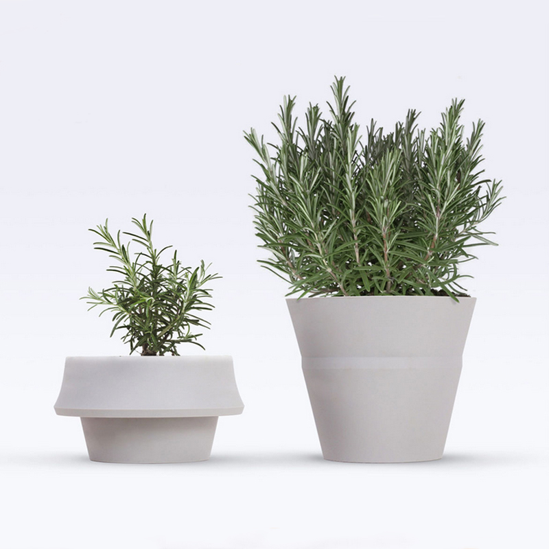 Fashion Style Silicone Outdoor Planters Flower Pots