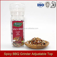 Grannys MSG FREE Spicy BBQ Seasoning with Adjustable Grinder 55g USD 0.4-1 Per Grinder 24 PCS Per CTN
