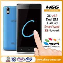 Your own Brand OK ! OMES MG6 5 inch Dual Core Quad Core 3G WCDMA 850/1900/2100 Mhz Android 4.4 Kitkat unlocked smartphone