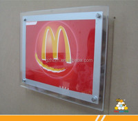 factory manufacturering crystal led display board for MC Mcdonald's display