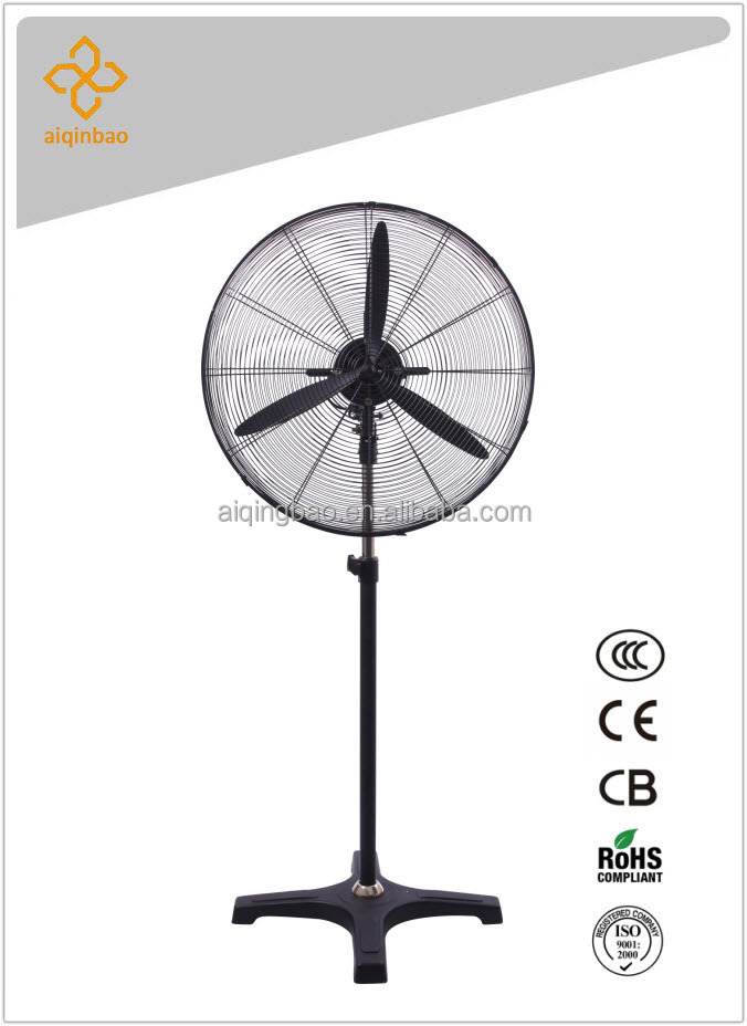 20 inch industrial pedestal fan full metal big power 3-blade workshop/warehouse fan w/ sealed copper motor