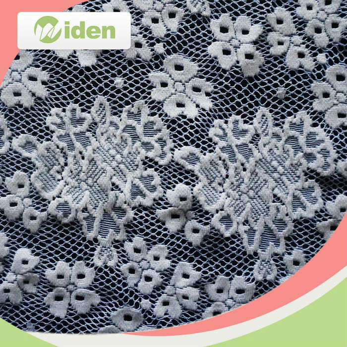 Grid pattern French lace 100% nylon material nonelastic lace fabric