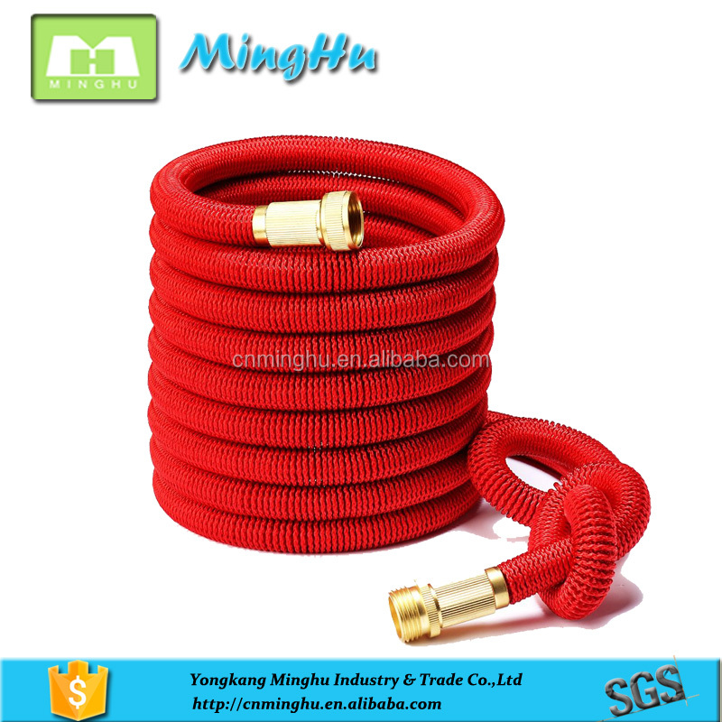 2017 Magic spray nozzle flexible garden hose 25FT/50FT/75FT/100FT Expandable Magic Water Hose with brass connector