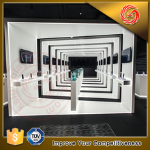 High quality material mobile phone store furniture glass showcase