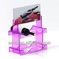acrylic counter top wine botles for display case