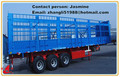 box trailer, fence cargo trailer with three axles double tires of any capacity in best price