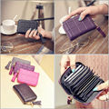 Women Wallet PU Short Quilted ID Credit Card Holder Purse Zipper Bag Handbag