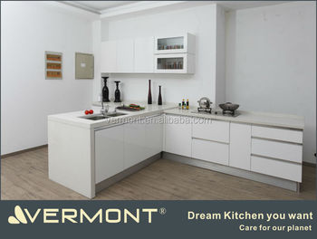 white lacquer afforable cheap kitchen cabinetry made in china