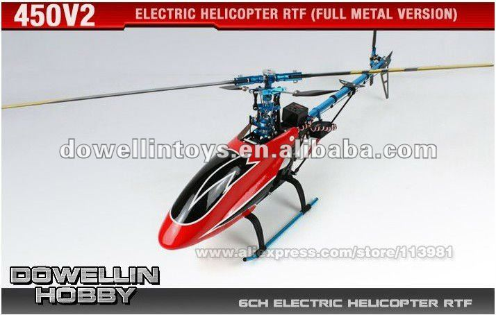 Hot Sales! 2.4G Electric 6CH RC Hobby Helicopter RTF/450V2 /Remote Control 3D Fly model/Full Metal Version