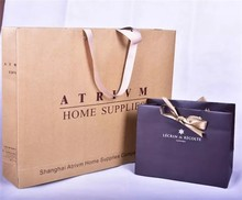 OEM or ODM production brand name custom vintage paper bag