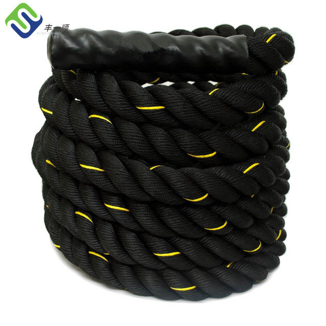 Power <strong>fitness</strong> 50mm*15m Poly dacron battle rope