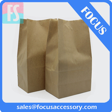 brown kraft paper bag for bread