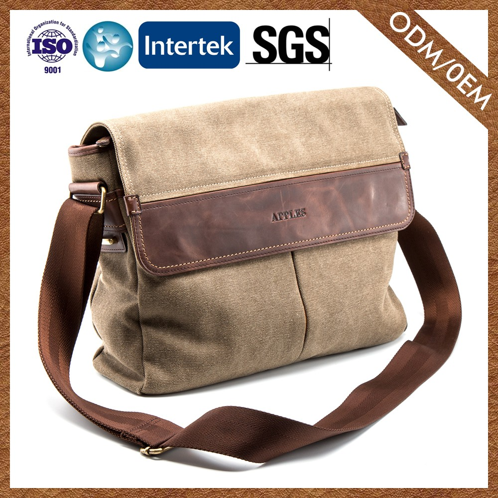 Manufacturers On Promotion Waterproof Messenger Bag 2016 Latest Design Genuine Leather Men Messenger Bag