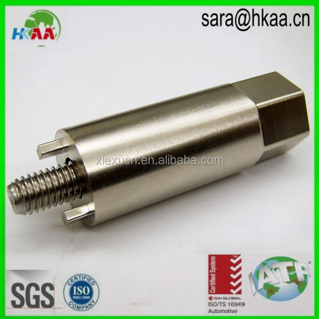 Custom cnc machining stainless steel nickel plated crank shaft for automobile