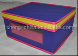 colorfull storage box with lid and PUC window M#