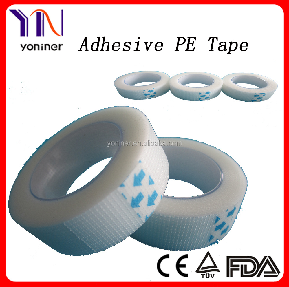 Medical permeable PE tape,transparent tape dressing
