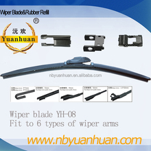 YH-08 both RHD and LHD Wiper Blade soft multifunction type Car Windshield Wiper Blade wholesale car accessories OEM ODM acceptab