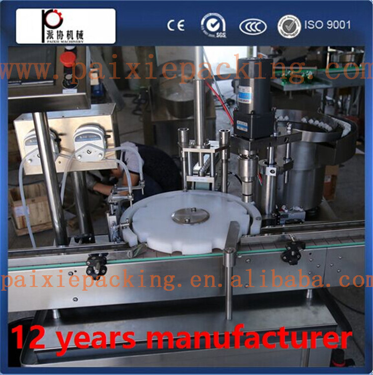 Auto aseptic bottle washing filling capping machine,e-juice filling capping and label machine