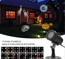 14 Patterns Waterproof Holiday LED Projector Christmas Decoration Moving Lights