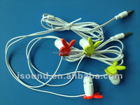 Cute funny colorful carton animal earphone high quality factory price