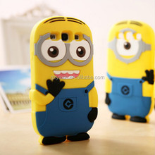 Funny case for samsung galaxy note3,hot despicable me 2 minions 3d silicone soft case for note3