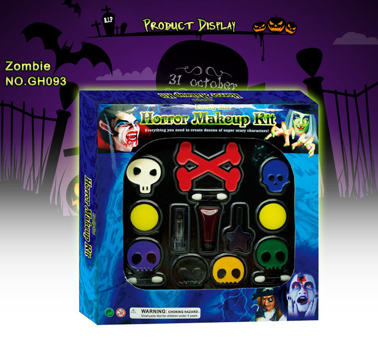 Halloween Eco-Friendly Safety Kids Body And Face Paint Kit