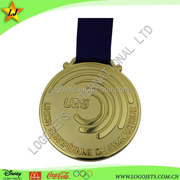 2017 best selling custom gold commemorative metal medals