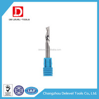 Delevel - Metal Milling Aluminum Single Flute End Mills / Tungsten Carbide Single Edge Cutting Tools