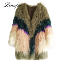Modern Knitted Women Short Mink Fur Coat