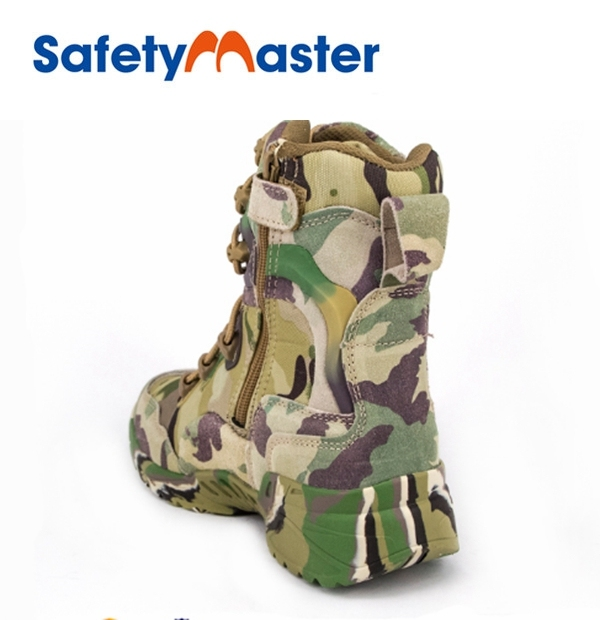 Safetymaster american camouflage combat military boots
