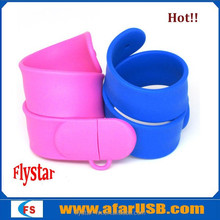 New usb wristband silicone slap usb Bracelet usb stick