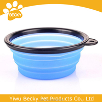 Collapsible pet cat dog cute silicone travel feeding bowl dish water feeder