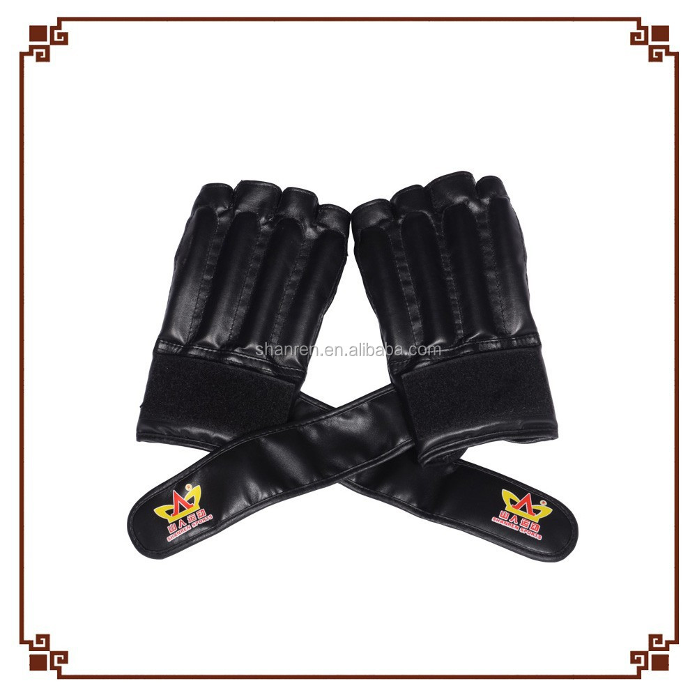 Professional Leather Half Finger Boxing Mma Gloves