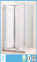square corner bathroom 2 sided small cheap shower enclosure bi-fold shower stalls for small bathrooms