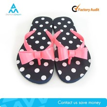 Cheap summer factory pink bow-knot black wear full nude photo girl flip flop