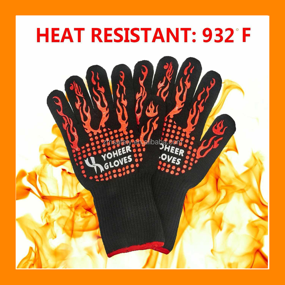 932F Oven Mitts Heat Resistant Gloves Chef Baking Supplies Grill Accessories Good for Barbecue