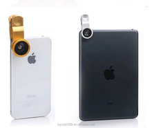 Hot Selling 3 in 1 Fisheye mobile phone lens wide angle lens zoom lens for mobile phone camera