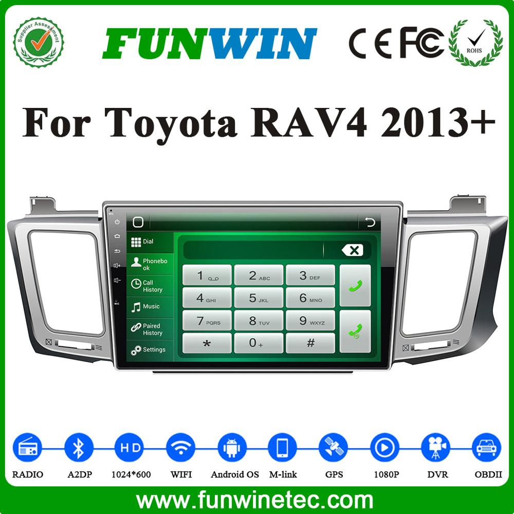 Funwin OEM Factory Touch Screen android car dvd player with car gps navigation multimedia system for Toyota RAV4 2013
