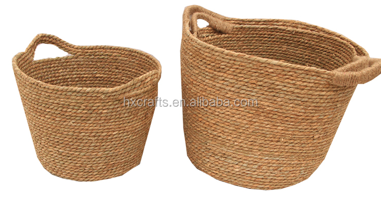 cheap woven seagrass storage basket
