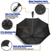 Classical 27 inches totes super strong auto open close compact umbrella