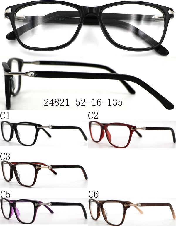 New style acetate spectacle frame wholesale personal optics reading glasses Eyeglasses Frames Model 24821