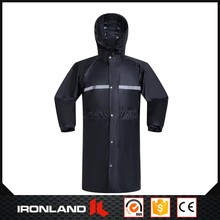 2017 new design reflective polyester raincoat