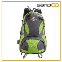 Quanzhou hot selling wholesale brand green hiking backpack